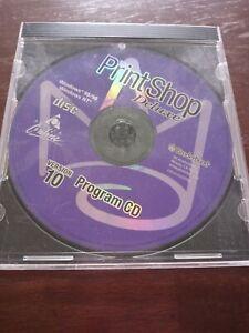 Print Shop Deluxe Version 10 Program CD PC