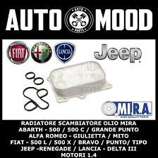 RADIATORE SCAMBIATORE OLIO ALFA ROMEO FIAT LANCIA JEEP MOTORI 1.4 DAL 2008>>