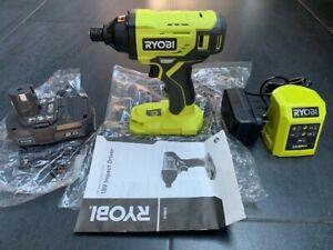 Brand New Ryobi R18ID2 18V ONE+ Cordless IMPACT DRIVER+ 2Ah Battery + Charger