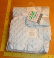 New Child Of Mine Carters Blue Baby Blanket Set Minky Dots Puppy Satin Security