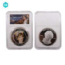 Home Decorative Souvenir Gifts Princess Diana Silver Coin with Gift Box Artwork