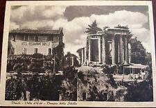 "Estate Sale - Vintage 1940s Tivoli Italia ""Sibilla"" Restaurant Postcard Unposted"