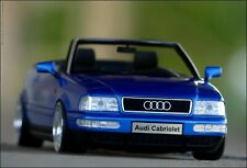 "1:18 Tuning Audi 80 2.8 V6 Cabrio ""Kingfisher Blue Edition + OZ Mito Alu-Felgen"""