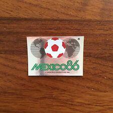 Panini World Cup México 86 Escudo Logo Number 2 Whith Original Back