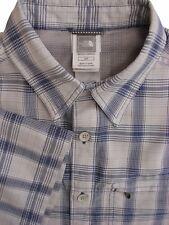 THE North Face Camicia Da Uomo 15.5 S Bianco Grigio & Blu a Quadri Manica Corta