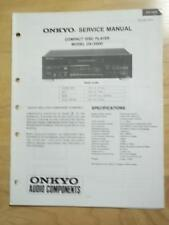 Original Onkyo Service Manual for the DX-3800 CD Player~Repair