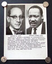 Original 1976 Martin Luther King Wide World Press Photo Ed Levi FBI Assasination