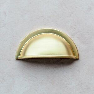 Brushed Brass Shaker Cup Handle & Knobs for Kitchen Cabinet   Bedroom   Bathroom