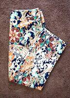 NWT $80 Chico's So Slimming Brigitte Rhythmic Floral Crop Pants w/ Front Pockets