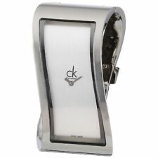 Calvin Klein Rectangle Silver Band Wristwatches