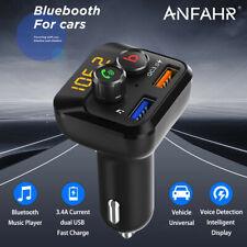 ANFAHR Bluetooth FM Transmitter Auto Freisprechanlage MP3 Player USB KFZ SD AUX