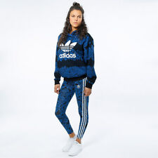NEW WOMENS ADIDAS ORIGINALS BLUE FLORAL LEGGINGS HOT PANTS YOGA PANTS SIZE LARGE