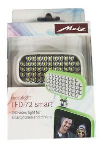 Metz mecalight LED-72 smart Weiss LED-Videolicht für Smartphones Tablet