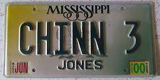 Mississippi 2000 VANITY License Plate CHINN 3