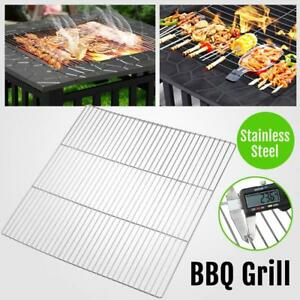 20.1x20.1'' BBQ Grilling Rack Holder Barbeque Stainless Steel Wire Net Silver