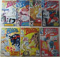 SILVER SURFER COMICS Lot  #60 61 62 63 64 65 66  NM Near Mint Marvel Comic books