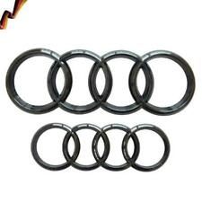 Schwarz Glänzend Satz V+H Gitter Abzeichen Ringe Logo Für Audi A4 A6 Q3 Q5 Q7