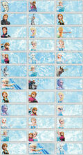 120 Disney Frozen pictures personalised name label (Small size)