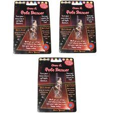 Novelty Grow Your Own Pole Dancer For Men Diabolical Joke Gag Gift Adult 3 Pack
