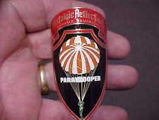 Paratrooper Bike Badge Emblem Etched Brass 1940 - 1970s