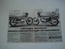 advertising Pubblicità 1982 SUZUKI GS 1000 G/GS 650 GT