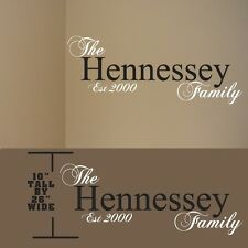 Family name wall decal, family name personalized, family name wall lettering