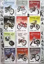"HONDA MOTORCYCLES POSTER ""12 CLASSIC MODELS"" - JAPANESE MOTORBIKES & CYCLES"