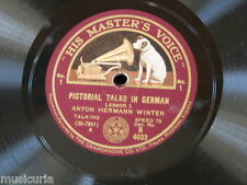 78rpm ANTON HERMANN WINTER pictorial talks in german B 4033