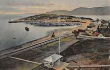 Tadousac Canada Bay At Low Tide Birdseye View Antique Postcard K17074