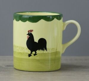 Zeller Keramik Hahn und Henne kleiner Henkelbecher Kaffeetasse Höhe 8 cm MÄNGEL