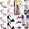Women Ladies Summer Ankle Strap Peep Toe Sandals Court Shoes High Heel Shoes Hot