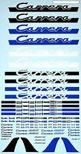 Coche Deportivo Carrera Modelo Letras Azul Negro Blanco 1:18 ADHESIVO abziehbi