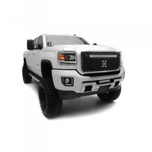 15-18 GMC SIERRA HD T-REX TORCH SERIES BLACK 1-PIECE LED GRILLE.