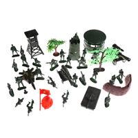 37PCS Plastic 5CM Action Figures Army Men Base Model Playset Toy Soldiers RS