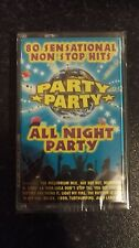 "PARTY PARTY""ALL NIGHT PARTY 80 HITS"" NEW / SEALED MUSIC CASSETTE TAPES ORIGINAL"