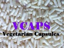 """VCAPS 1000 White Opaque Size """"0"""" Empty Vegetarian Capsules (HPMC) No Gelatin*/*/"""