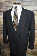 Joseph Abboud Charcoal Gray Double Breasted Wool Suit 48L