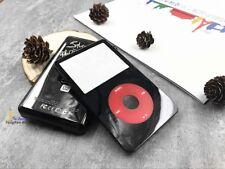 black faceplate U2 metal back case housing red clickwheel fr ipod 5th video 60gb