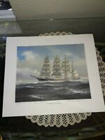 THOMAS WELLS SIGNED/INSCRIBED LIMITED EDITION NUMBERED PRINT TALL SHIP