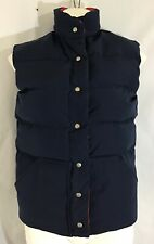 Womens Goose Down Vest Vintage Reversible Red/ Blue The Talbots Size S