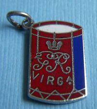 Vintage enamel Virginia drum Colonial Williamsburg Virginia IC sterling charm