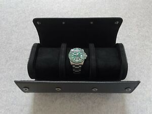 Saffiano Uhrenrolle・3 Uhren Etui・Watch Roll・Box Case・Rolex Omega Tudor Breitling