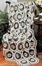 CIRCLE OF ROSES AFGHAN  - VINTAGE  CROCHET PATTERN