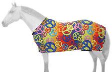 """Rainbow peace print medium horse 69 - 76"""" lycra full body sheet"""