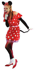 Adult Women Mouse Girl Costume Set One Size Minnie Mouse Fancy Dress Up New