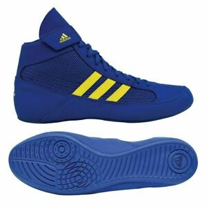 Adidas Wrestling Shoes Low Cut Boxing Boots Havoc Trainers Mens Blue