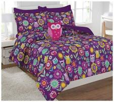 Fancy Collection 6pc Kids/teens Owl Flowers Design Luxury Bed-in-a-bag.