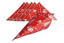 50 Spitztüten Papierspitztüten Papiertüten Weihnachten Geschenktüten Glöckchen