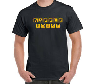 Waffle House T-Shirt  Black Cotton