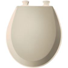 Bemis Molded Wood Round Toilet Seat Almond